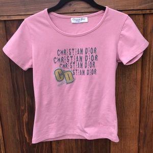 Dior mauve logo shirt